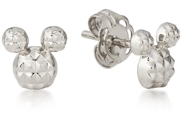 "Couture Kingdom Ohrstecker Disney Diamond Cut \""Micky Maus\"" 0,8 x 0,8 cm"