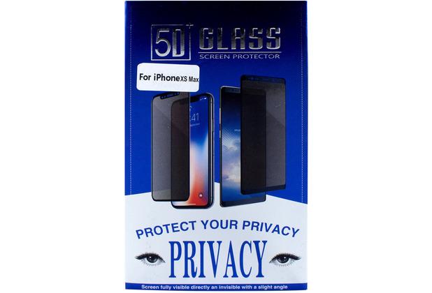 Cyoo Privacy 5D Glas Displayschutzfolie für Apple iPhone 11 Pro Max / XS Max, Schwarz