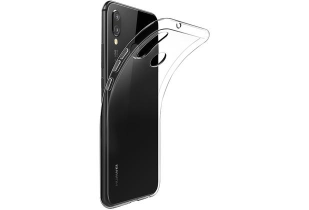 Cyoo Silikon Case für Huawei P20 Lite, Transparent