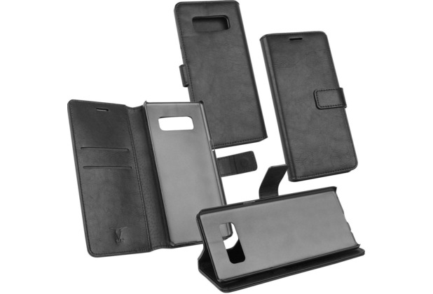 D-Parts Fontastic PU Tasche Diary Business - Galaxy Note 8 - schwarz