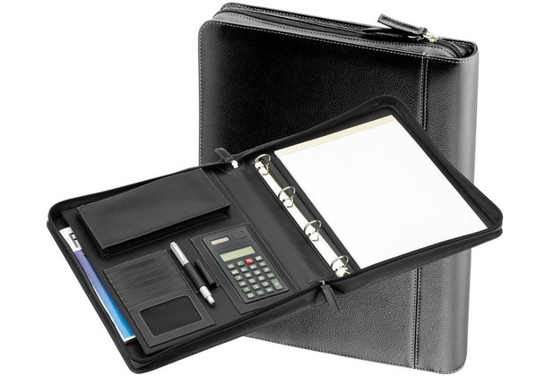 48c91551b355d d   n Easy Business Schreibmappe III Leder 34 cm schwarz
