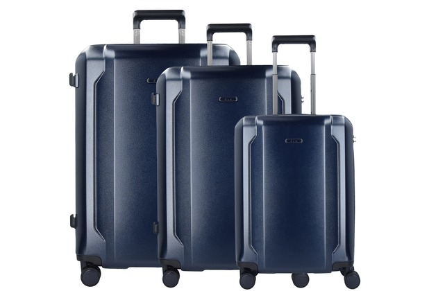 d & n Travel Line 8100 4-Rollen Kofferset 3 tlg. dunkelblau