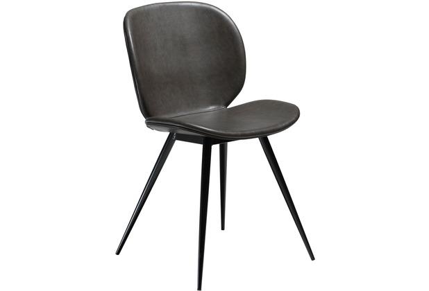 DAN-FORM Cloud Stuhl Vintage Grau, Schwarze Beine
