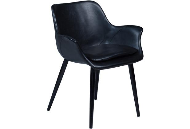 DAN-FORM Combino Stuhl Vintage Schwarz Kunstleder, Schwarze Beine