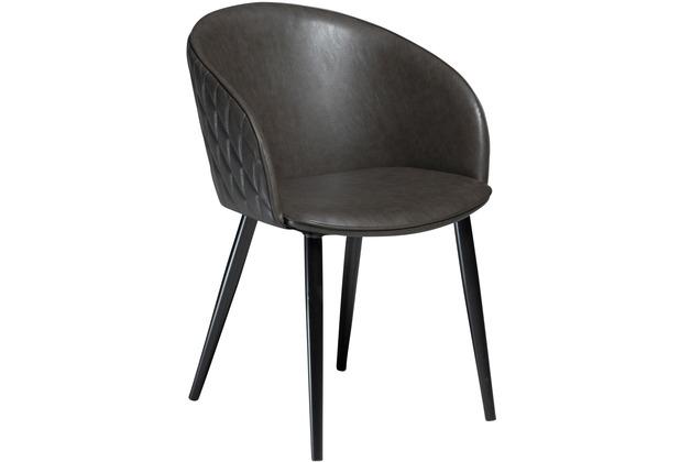 DAN FORM Dual Stuhl Grau Kunstleder Schwarze Beine