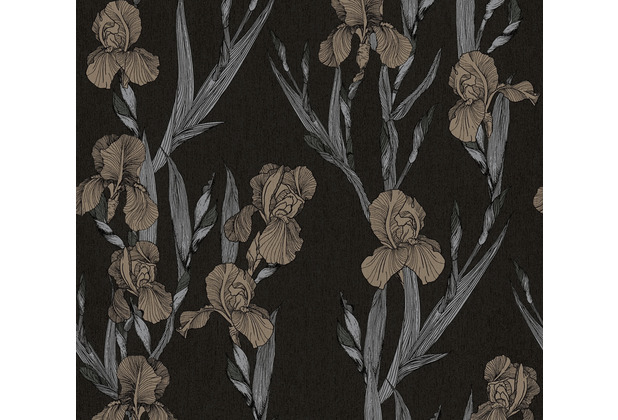 Daniel Hechter Vliestapete Blumentapete schwarz grau braun 375261 10,05 m x 0,53 m