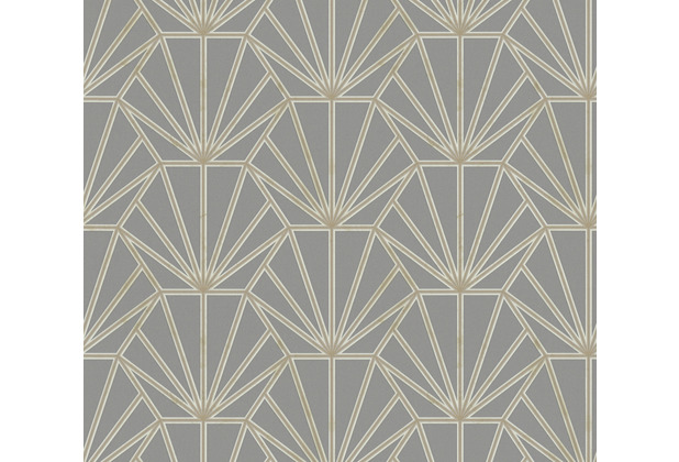Daniel Hechter Vliestapete geometrische Tapete grau gold weiß 375285 10,05 m x 0,53 m