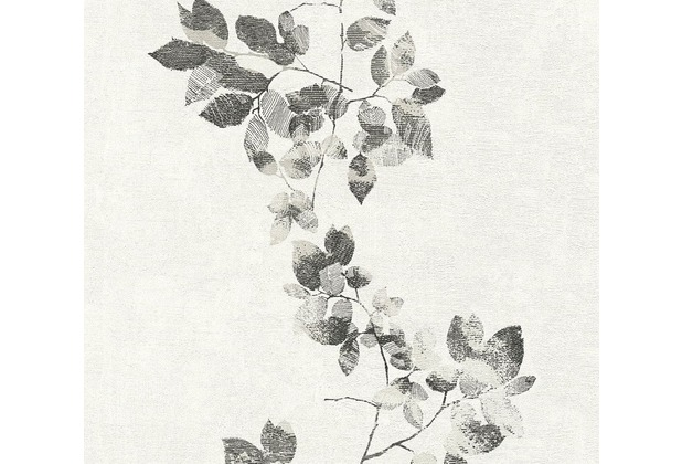 Daniel Hechter Vliestapete Tapete floral schwarz weiß 10,05 m x 0,53 m