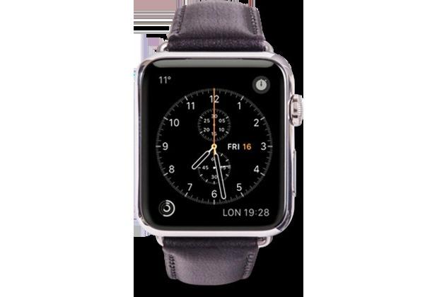dbramante1928 dbramante1928 Copenhagen Strap, Apple Watch, 38/40mm, silber/schwarz, AW38BLSI0920