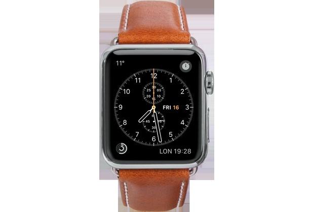 dbramante1928 dbramante1928 Copenhagen Strap, Apple Watch, 38/40mm, tan/silber, AW38GTSI0881