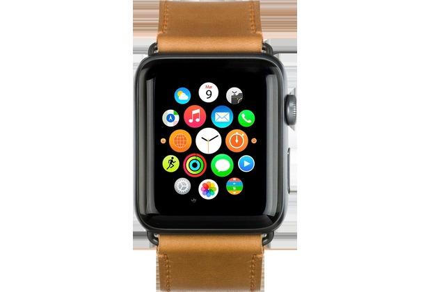dbramante1928 dbramante1928 Copenhagen Strap, Apple Watch, 42/44mm, hell sattelbraun/grau, AW42LSSG0882