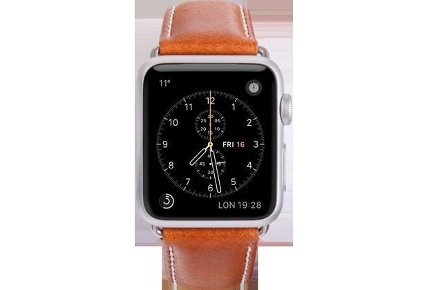 dbramante1928 dbramante1928 Copenhagen Strap, Apple Watch, 42/44mm, tan/silber, AW42GTSI0879