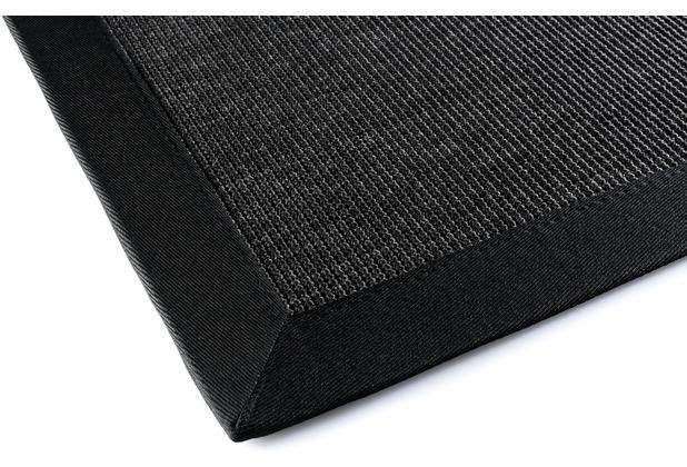 DEKOWE Outdoorteppich Naturino Rips schwarz Wunschmaß
