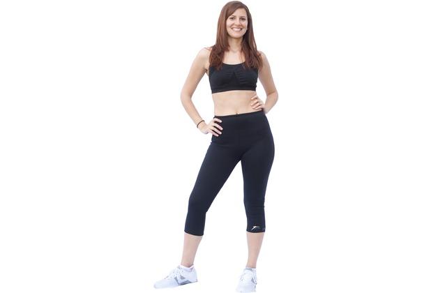 Delfin Spa Fitness-Capri-Hose mit Wärme-Effekt - aus Neopren mit Biokeramik, black XL (50/52)