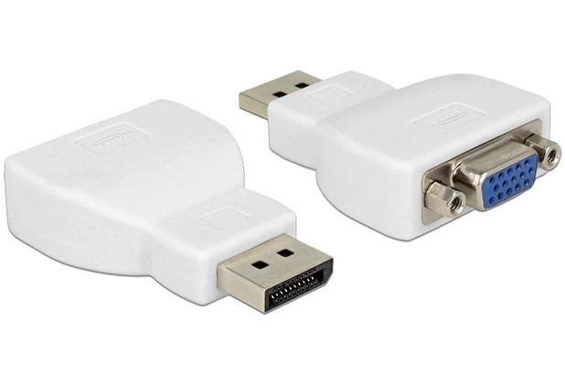 DeLock Adapter DisplayPort 1.1 Stecker > VGA Buchse, weiß