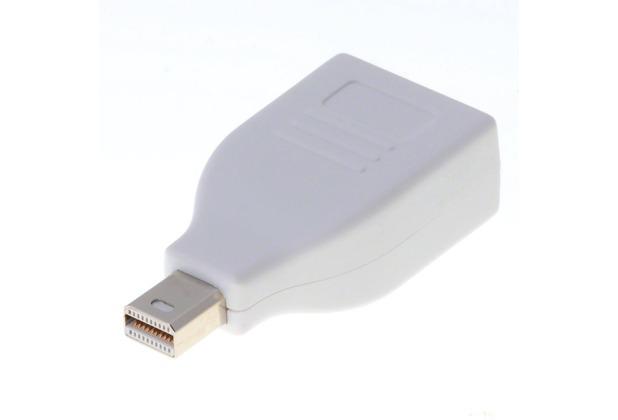 DeLock Adapter DP mini-Stecker > DP-Buchse weiss