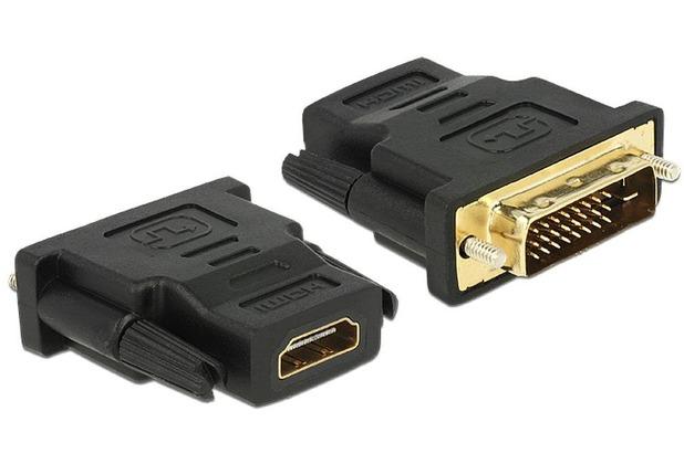 DeLock Adapter DVI 24+1 Pin Stecker > HDMI Buchse