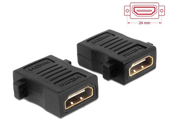 DeLock Adapter HDMI-A Buchse > A Buchse mit Schraubanschluss