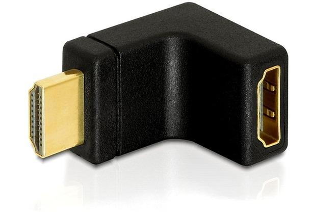 DeLock Adapter HDMI Stecker > HDMI Buchse 90° oben