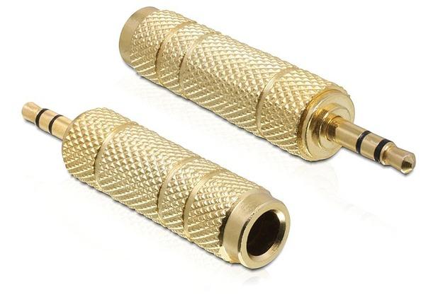 DeLock Adapter Klinke 3,5 mm Stecker > 6,35 mm Buchse
