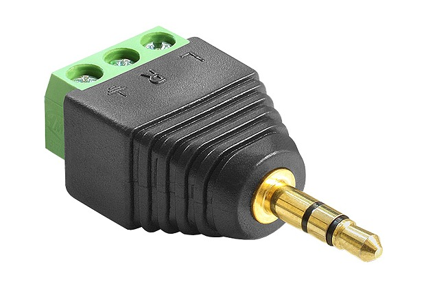 DeLock Adapter Klinke Stecker 3,5 mm > Terminalblock 3 Pin