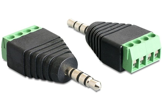 DeLock Adapter Klinke Stecker 3,5 mm > Terminalblock 4 Pin