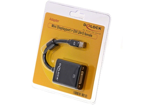 DeLock Adapter mini Displayport DVI-I 24+5 Buchse