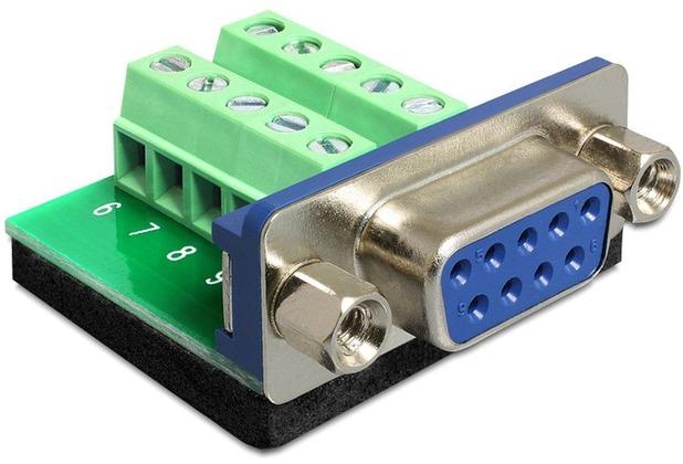 DeLock Adapter Sub-D 9 Pin Buchse > Terminalblock 10 Pin