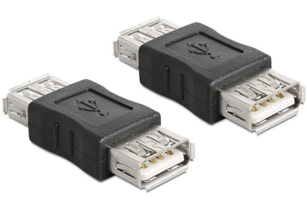 DeLock Adapter USB A/A Bu/Bu