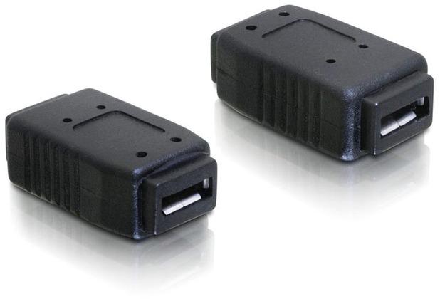 DeLock Adapter USB micro-A+B Buchse zu