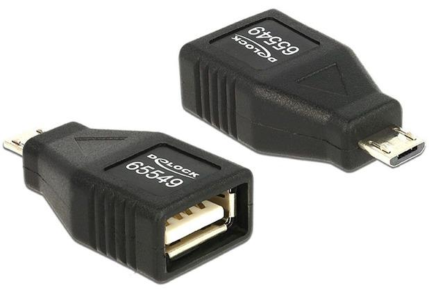 DeLock Adapter USB Micro B Stecker > USB 2.0 Buchse OTG
