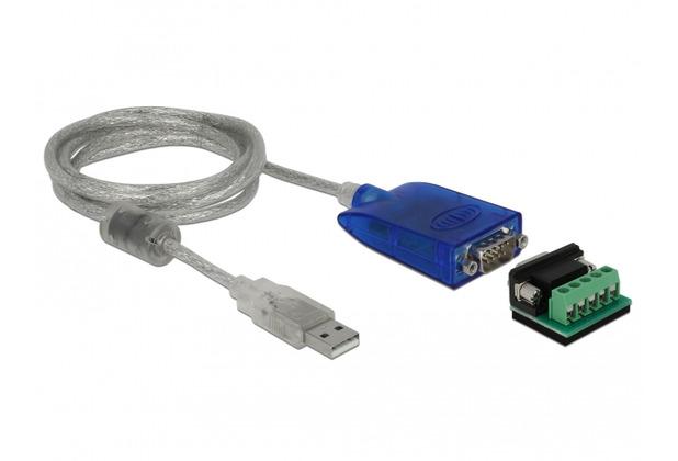 DeLock Adapter USB Typ-A zu Seriell RS-422/485 DB9 mit Überspannungsschutz 600 W