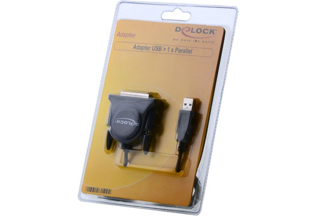 DeLock Adapter USB zu 1x Parallel