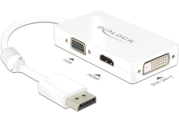 DeLock Adapterkabel DisplayPort 1.1 Stecker > VGA/HDMI/DVI