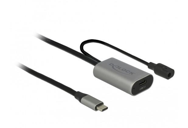 DeLock Aktives USB 3.1 Gen 1 Verlängerungskabel USB Type-C™ 5 m
