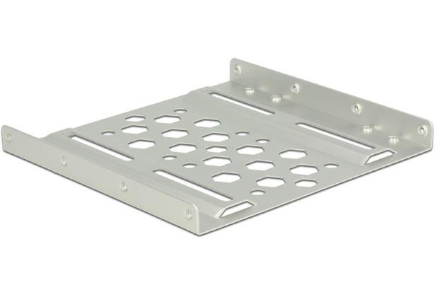 DeLock Aluminium Einbaurahmen 2.5? zu 3.5? silber