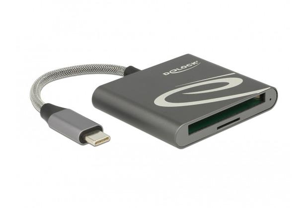 DeLock Card Reader USB Type-C™ für Compact Flash oder Micro SD Speicherkarten
