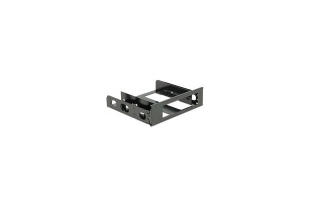 DeLock Einbaurahmen 3½ Aluminium schwarz