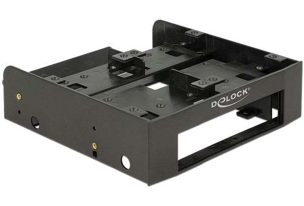 """DeLock Einbaurahmen 5¼ für 4 x 2.5\"""" HDD/SSD schwarz"""