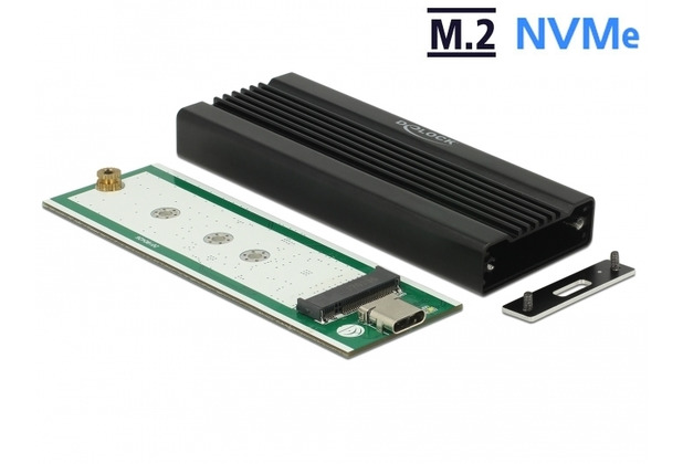 DeLock Externes Gehäuse M.2 NVMe PCIe SSD USB 10 Gbps (USB 3.1) USB Type-C™ Bu.