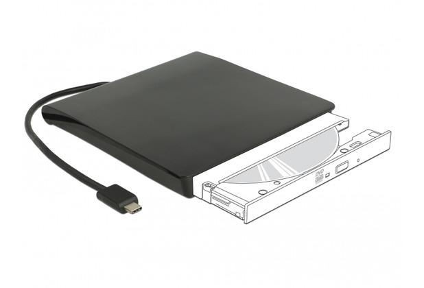 DeLock Gehäuse für 5.25 Slim SATA Laufwerke 12,7 mm zu USB Type-C™ Stecker