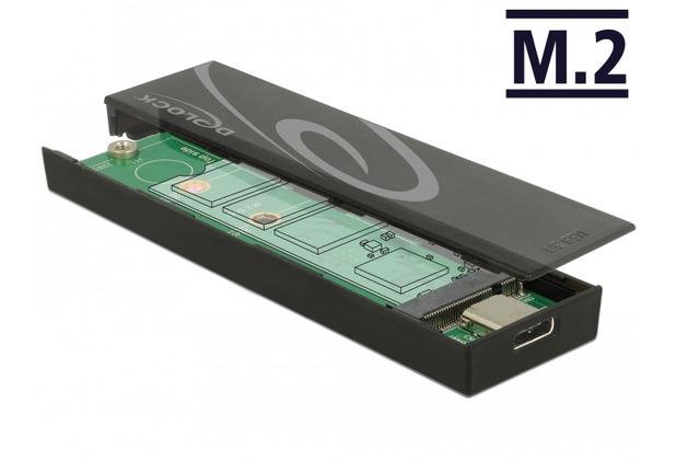 DeLock Gehäuse M.2 SSD 42/60/80 > USB Type-C™
