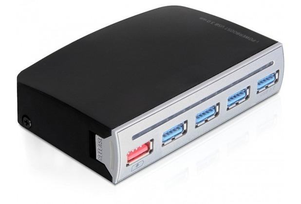 DeLock HUB USB 3.0 4 Port extern, 1 Port USB Strom intern / extern