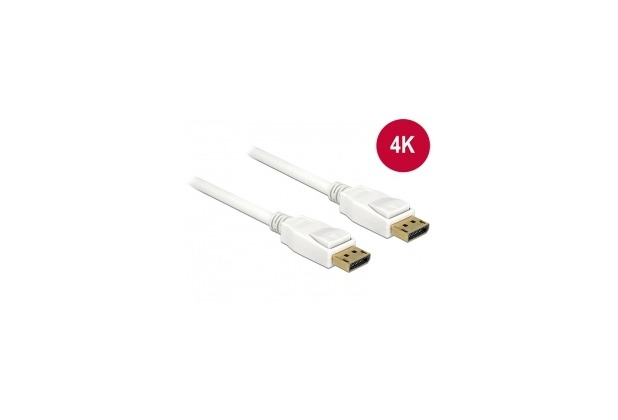 DeLock Kabel DisplayPort 1.2 St. > DisplayPort St. 1 m weiß