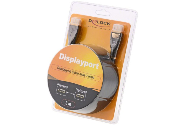 DeLock Kabel DisplayPort 1.2 St. > DisplayPort St. 3 m gold