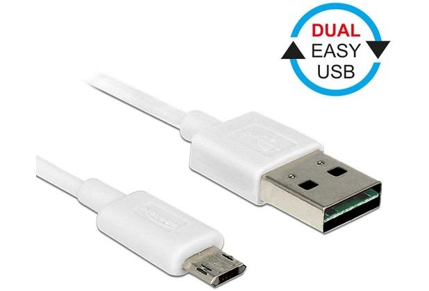 DeLock Kabel EASY USB 2.0-A > EASY Micro-B weiß 2m