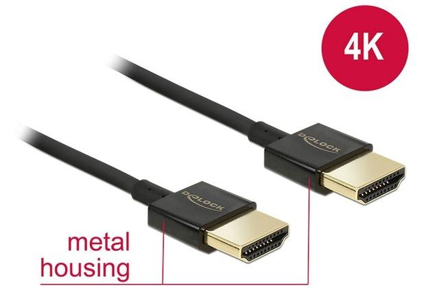 DeLock Kabel HDMI A Stecker > HDMI A Stecker 2,0 m Slim