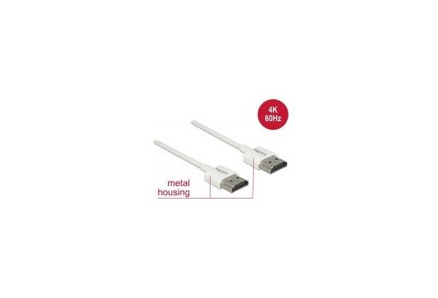 DeLock Kabel HDMI A Stecker > HDMI A Stecker 3D 4K 0,25 cm S