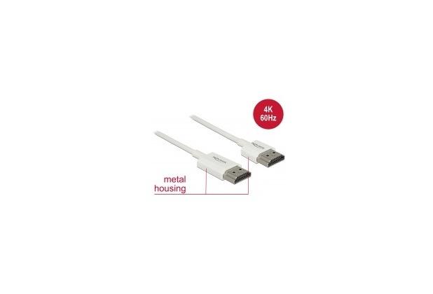 DeLock Kabel HDMI A Stecker > HDMI A Stecker 3D 4K 3 m Slim