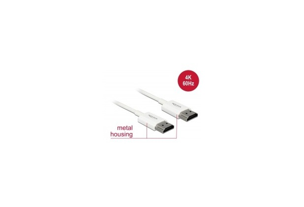 DeLock Kabel HDMI A Stecker > HDMI A Stecker 3D 4K 4,5m Slim